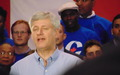 Stephen Harper, then PM, at the Conservative rally.