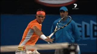 Rafael Nadal Super Slow Motion Reverse Forehand On Make A Gif