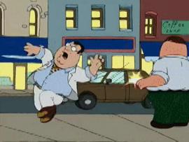 Family Guy - Big Fat Paulie getting shot.